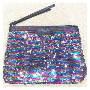 Victoria's Secret sequin Zippered clutch